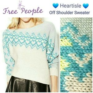 FREE PEOPLE ❤ Heartisle ❤ Off Shoulder Sweater
